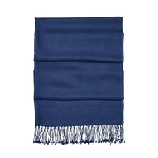Essential Silk & Cashmere Pashmina in Navy