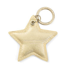 Star Keyring in Pale Gold Pebble