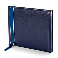 Lizard Print Guest Book in Midnight Blue Lizard