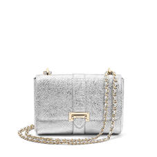 Small Lottie Bag in Silver Python Print