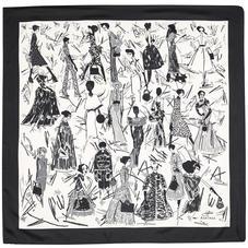 Giles x Aspinal (Ladies Silk Scarf - Monochrome)