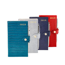 Slim Pocket Leather Diary & Pen