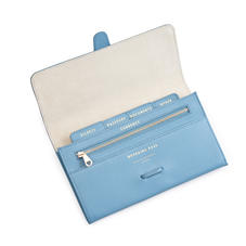 Classic Travel Wallet in Bluebird Saffiano