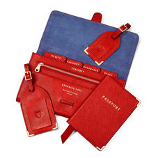 Classic Travel Collection in Scarlet Saffiano