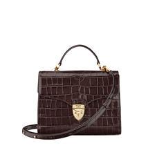 Mayfair Bag in Deep Shine Amazon Brown Croc