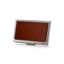 Mens leather business card holders aspinal of london stainless steel business card holder colourmoves