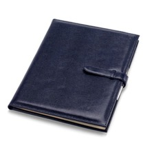 A4 Padfolio in Navy Lizard. Leather Portfolios & Padfolios from Aspinal of London