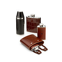 Leather Hip Flasks. Sporting Gifts & Books from Aspinal of London