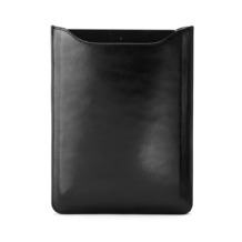iPad Mini Sleeve in Smooth Black & Cobalt Blue Suede. Outlet from Aspinal of London