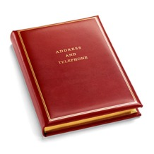 Classic Medium Address Book in Smooth Red. Leather Address Books from Aspinal of London