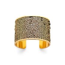 Cleopatra Cuff Bracelet in Gold Snake. Cuff Bracelets from Aspinal of London