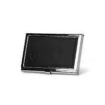 Stainless Steel Business Card Holder. Ladies Wallets & Purses from Aspinal of London