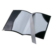 Plain Passport Cover in Smooth Black. Leather Passport Covers from Aspinal of London