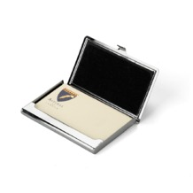 Stainless Steel Business Card Holder in Smooth Black. Business & Credit Card Holders from Aspinal of London