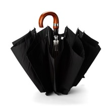 Gent's Automatic Compact Umbrella in Black. Gents Black Umbrellas from Aspinal of London
