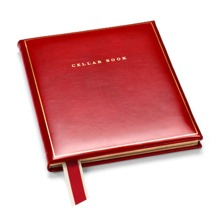 Classic Cellar Book in Smooth Red. Leather Cellar Books from Aspinal of London