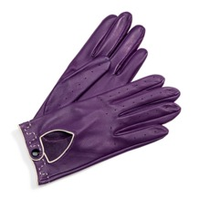 Ladies Leather Driving Gloves in Purple. Ladies Leather Driving Gloves from Aspinal of London