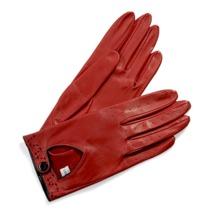 Ladies Leather Driving Gloves in Red. Ladies Leather Driving Gloves from Aspinal of London