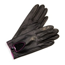 Ladies Leather Driving Gloves in Black. Ladies Leather Driving Gloves from Aspinal of London