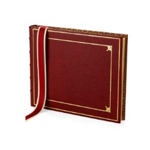 Deluxe Tooled Guest Book in Red. Guest & Visitors Books from Aspinal of London