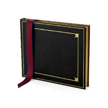 Deluxe Tooled Guest Book in Black. Guest & Visitors Books from Aspinal of London