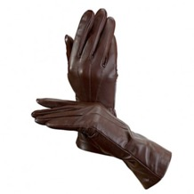 Ladies Classic Silk Lined Leather Gloves in Brown. Ladies Silk Lined Leather Gloves from Aspinal of London