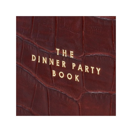 Dinner Party Book in Amazon Brown Croc from Aspinal of London