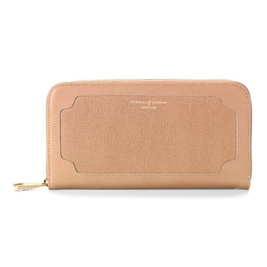 Marylebone Purse in Deer Saffiano & Smooth Deer from Aspinal of London