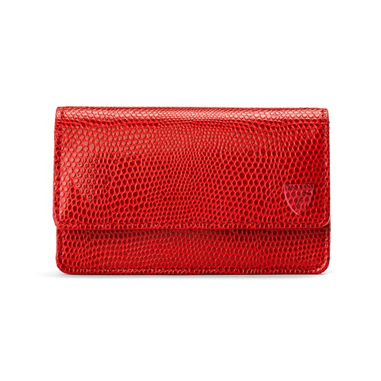 Business & Credit Card Case in Berry Lizard from Aspinal of London