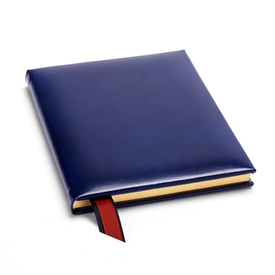 Ships Log Book in Smooth Sapphire Blue from Aspinal of London
