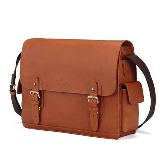 Large Shadow Messenger in Smooth Tan from Aspinal of London