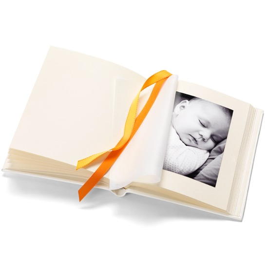 Deluxe Baby Record Photo Album in Smooth Ivory from Aspinal of London