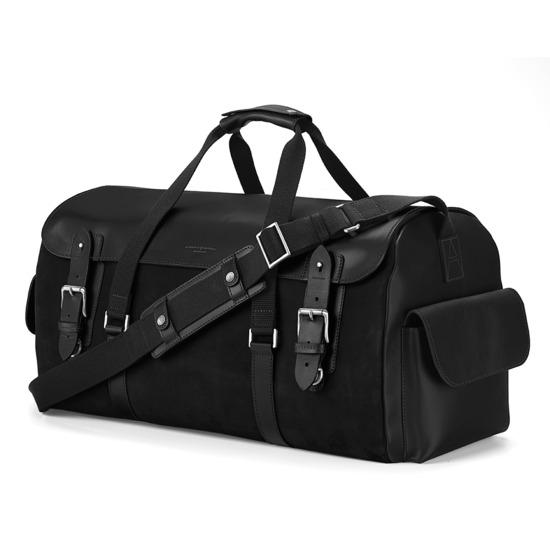 Shadow Holdall in Black Nubuck from Aspinal of London
