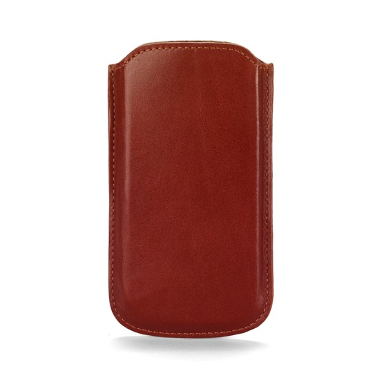 Leather iPhone 5 Case in Smooth Cognac & Espresso Suede from Aspinal of London
