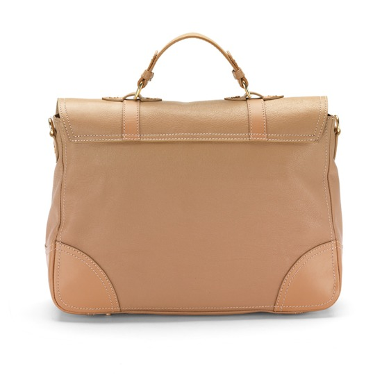 Mollie Satchel Handbag in Smooth Cappuccino from Aspinal of London