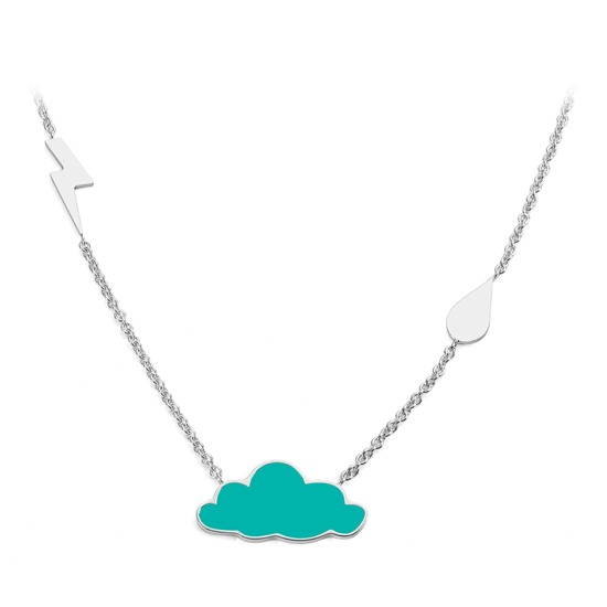 Cloud Charm Necklace from Aspinal of London