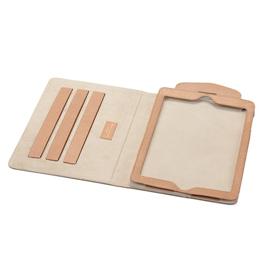 iPad Air Stand Up Case in Deer Saffiano from Aspinal of London