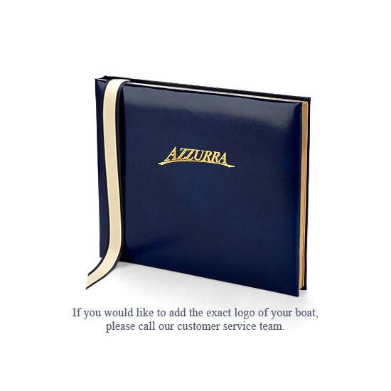 Ships Guest Book in Sapphire from Aspinal of London
