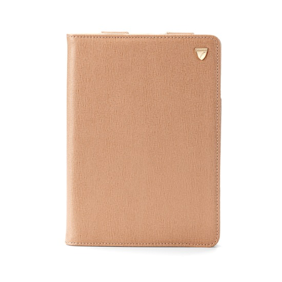 iPad Mini Stand Up Case in Deer Saffiano & Cream Suede from Aspinal of London