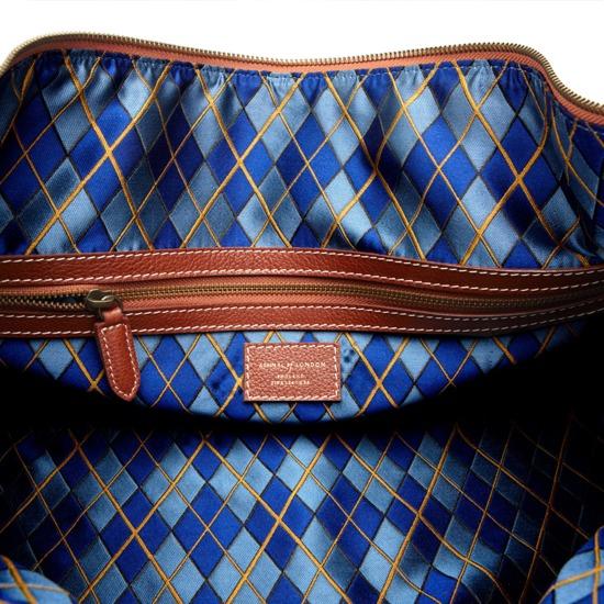 Boston Bag in Tan Pebble Calf from Aspinal of London