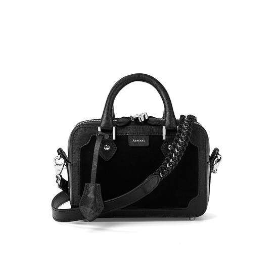 Mini Sofia Bag in Black Nubuck from Aspinal of London