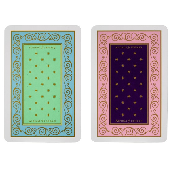 Playing Card Set in Lilac & Purple / Turquoise & Mint from Aspinal of London