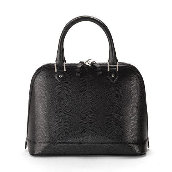 Hepburn Bag in Black Lizard from Aspinal of London