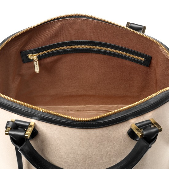 Hepburn Bag in Monochrome Saffiano from Aspinal of London