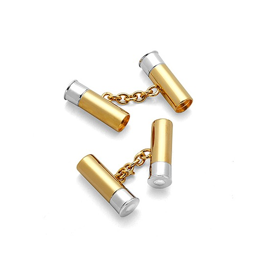 Sterling Silver & Gold Plated Double Cartridge Cufflinks from Aspinal of London
