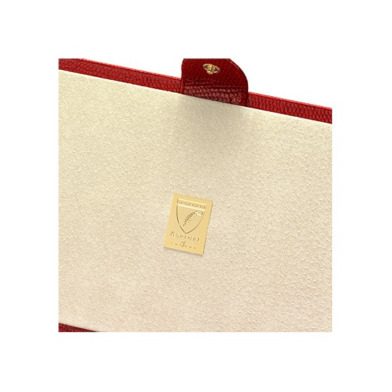 Paris Jewellery Box in Berry Lizard & Cream Suede from Aspinal of London