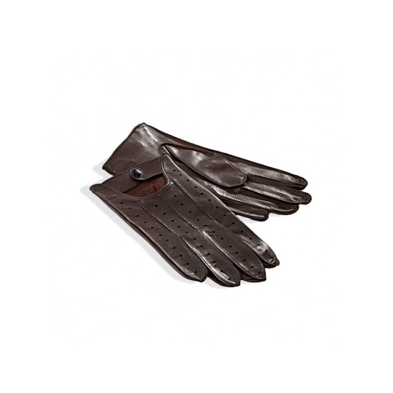 mens leather driving gloves in brown aspinal of london