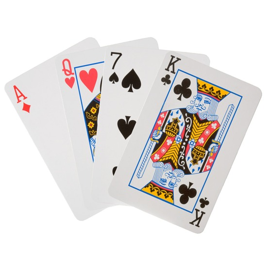 Playing Card Set in Burgundy & Blue / Cream & Black from Aspinal of London
