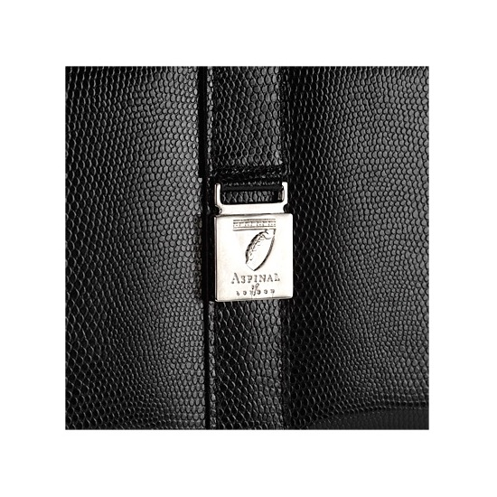 Classic Vanity Case in Black Lizard from Aspinal of London