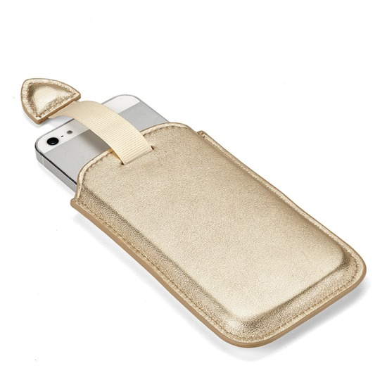 Leather iPhone 5 Case in Metallic Gold Nappa from Aspinal of London